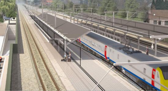 Aalter beernem spoorlijn visualisatie infranea