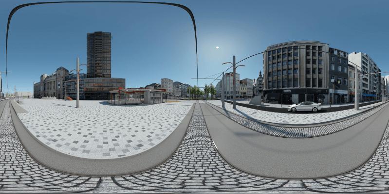 Infranea. Noorderlijn, Antwerp, Opera House - simulación de realidad virtual y vistas 360.